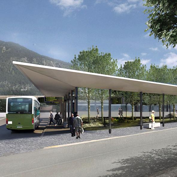 Wettbewerb Busbahnhof Markt Oberstdorf, 3. Preis