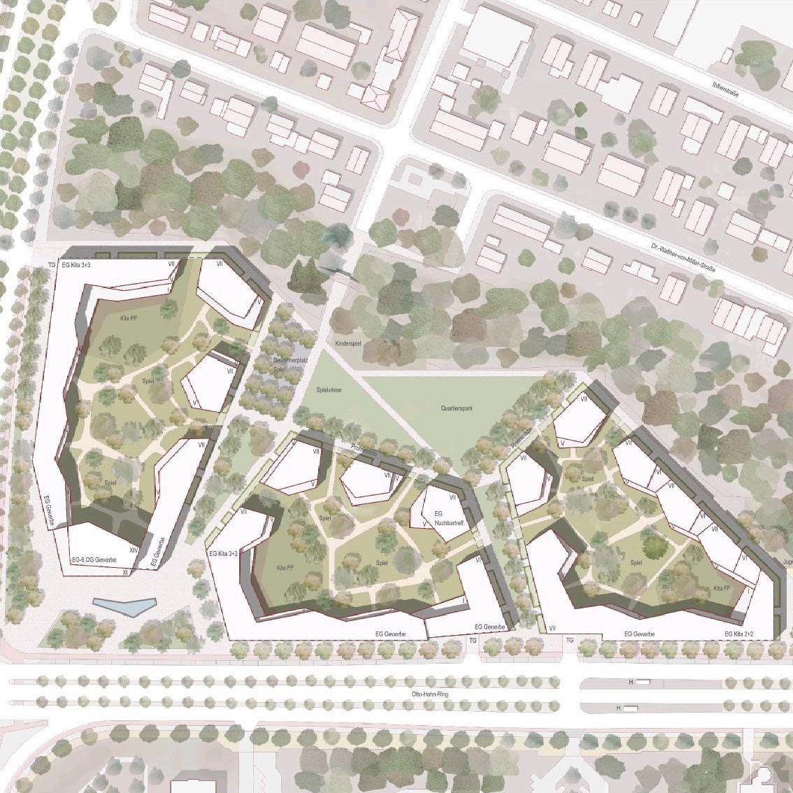 Wettbewerb Neubau eines Wohnquartiers in München-Neuperlach, 3. Preis